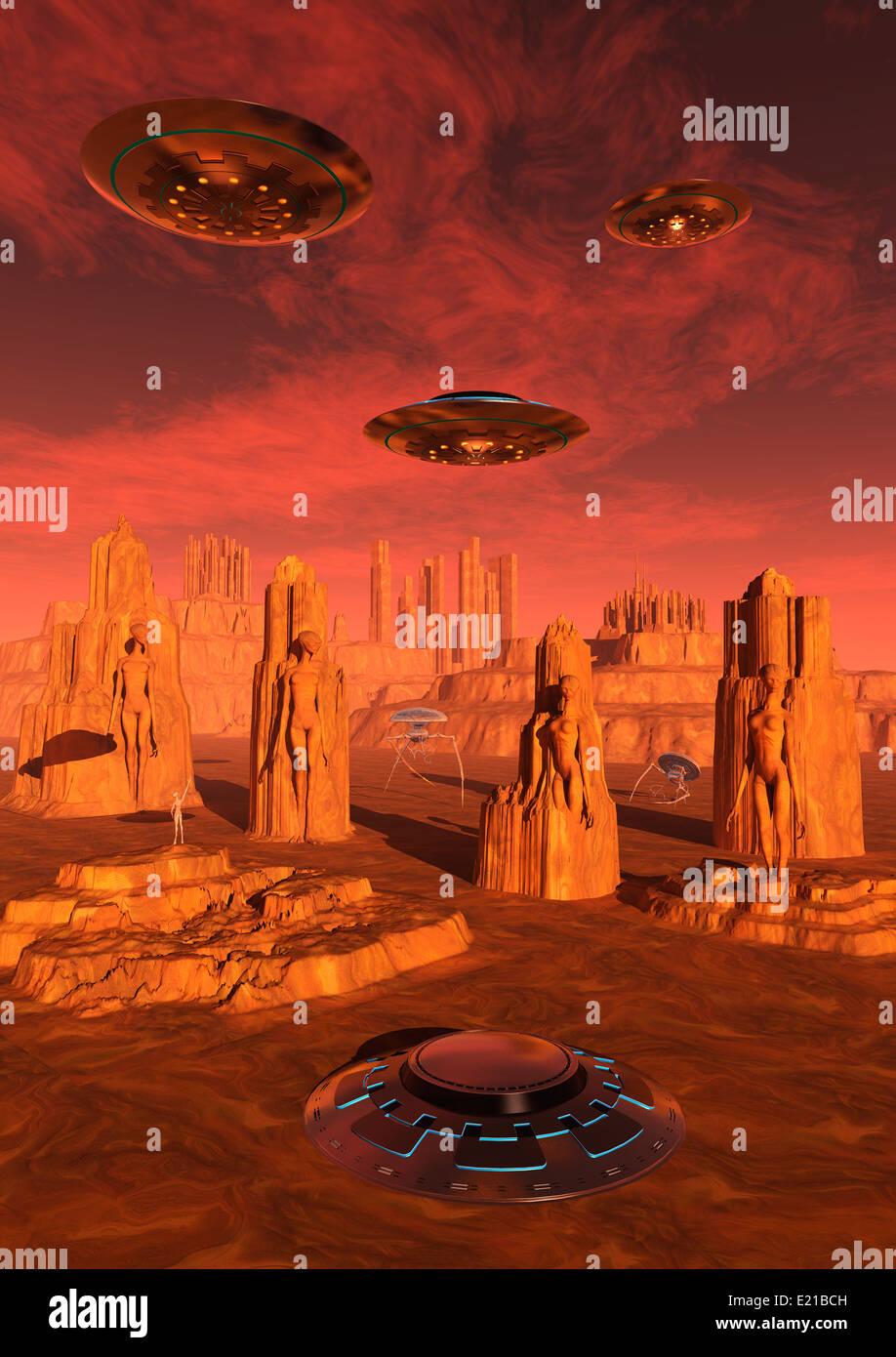 Last Days On Mars.1. - Stock Image