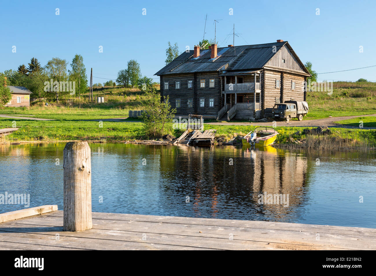 Russia, Village at Kizhi Island - Stock Image