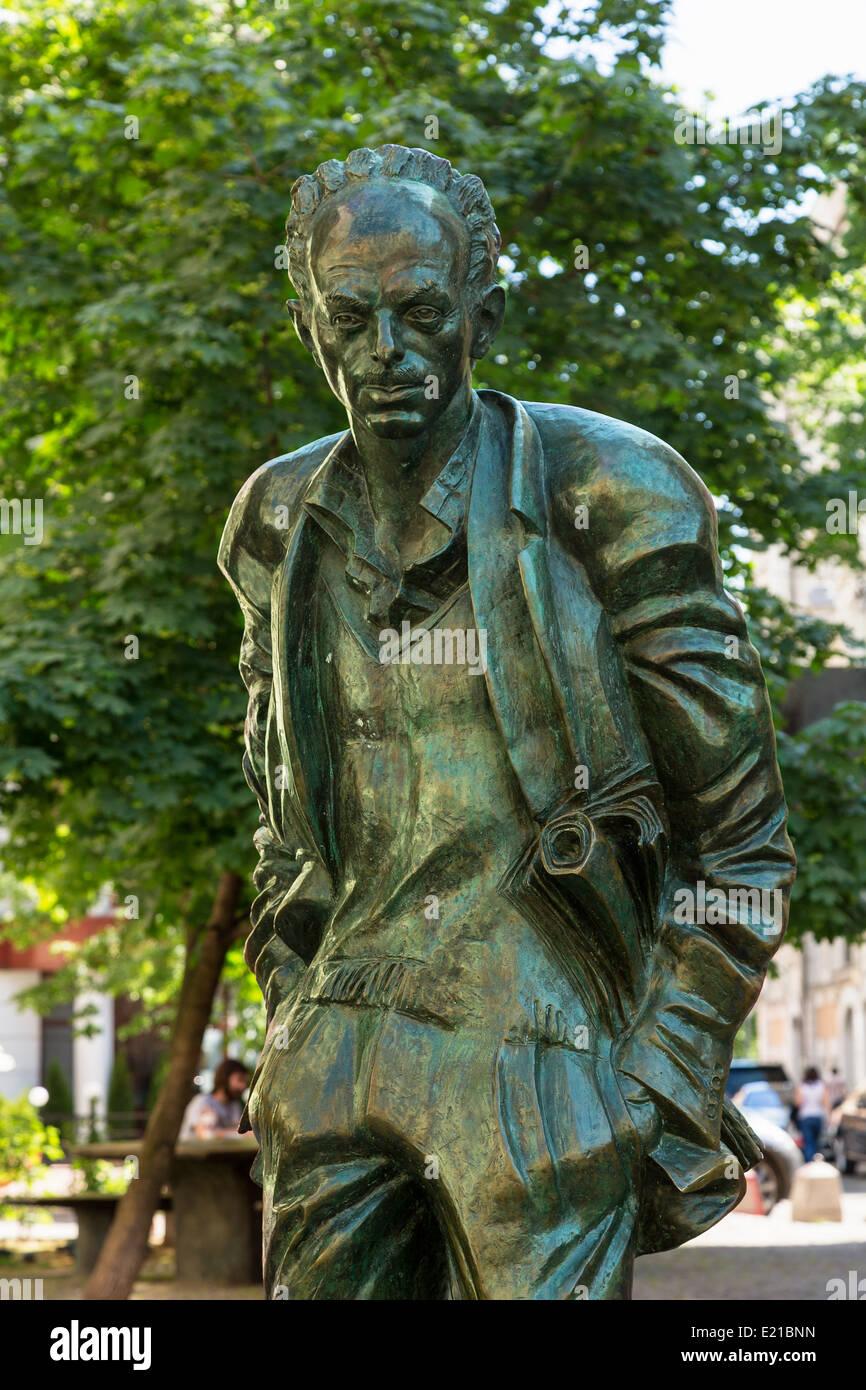 Moscow, Statue of Poet Bulat Okudzhava - Stock Image