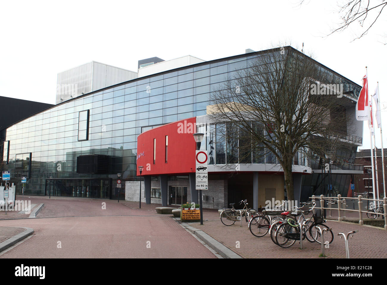 Exterior of 'De Harmonie', large concert-hall and theater in Leeuwarden, capital of Friesland, The Netherlands - Stock Image