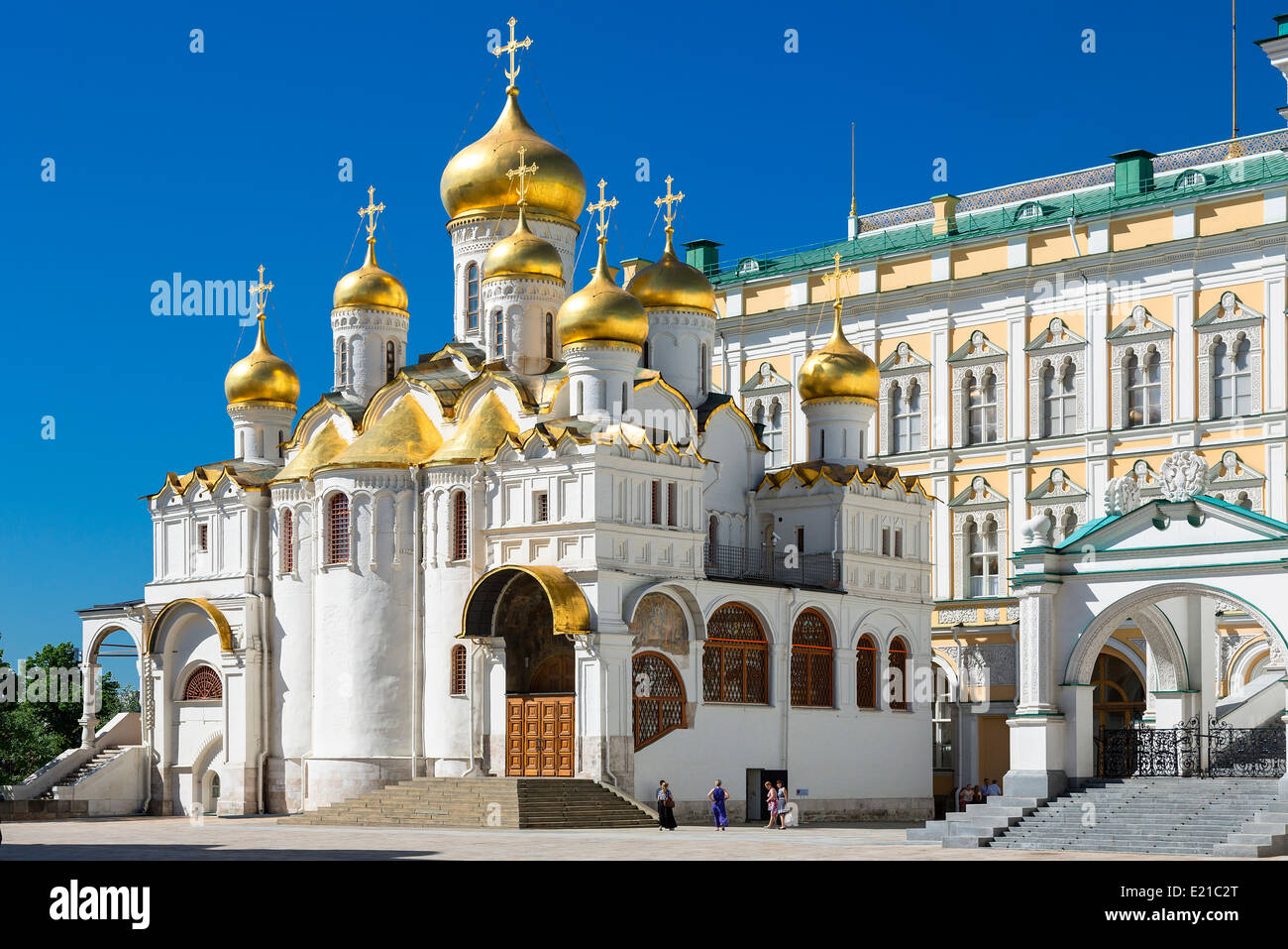 Moscow, Kremlin, Annunciation Cathedral - Stock Image