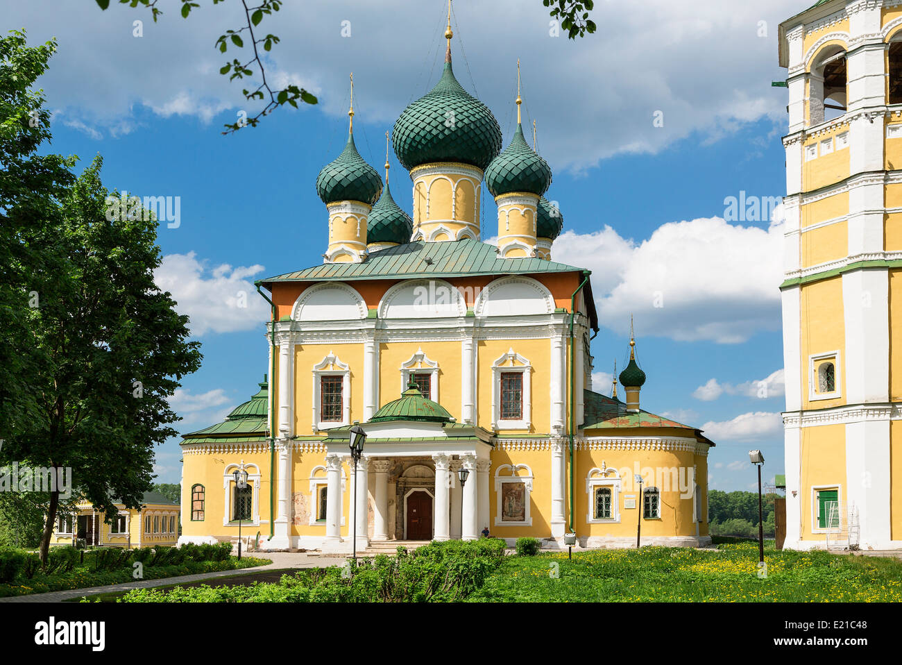 Russia, Uglich, Cathedral of Transfiguration - Stock Image