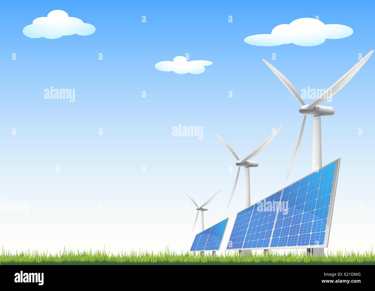 Solarzellen_04 - Stock Image