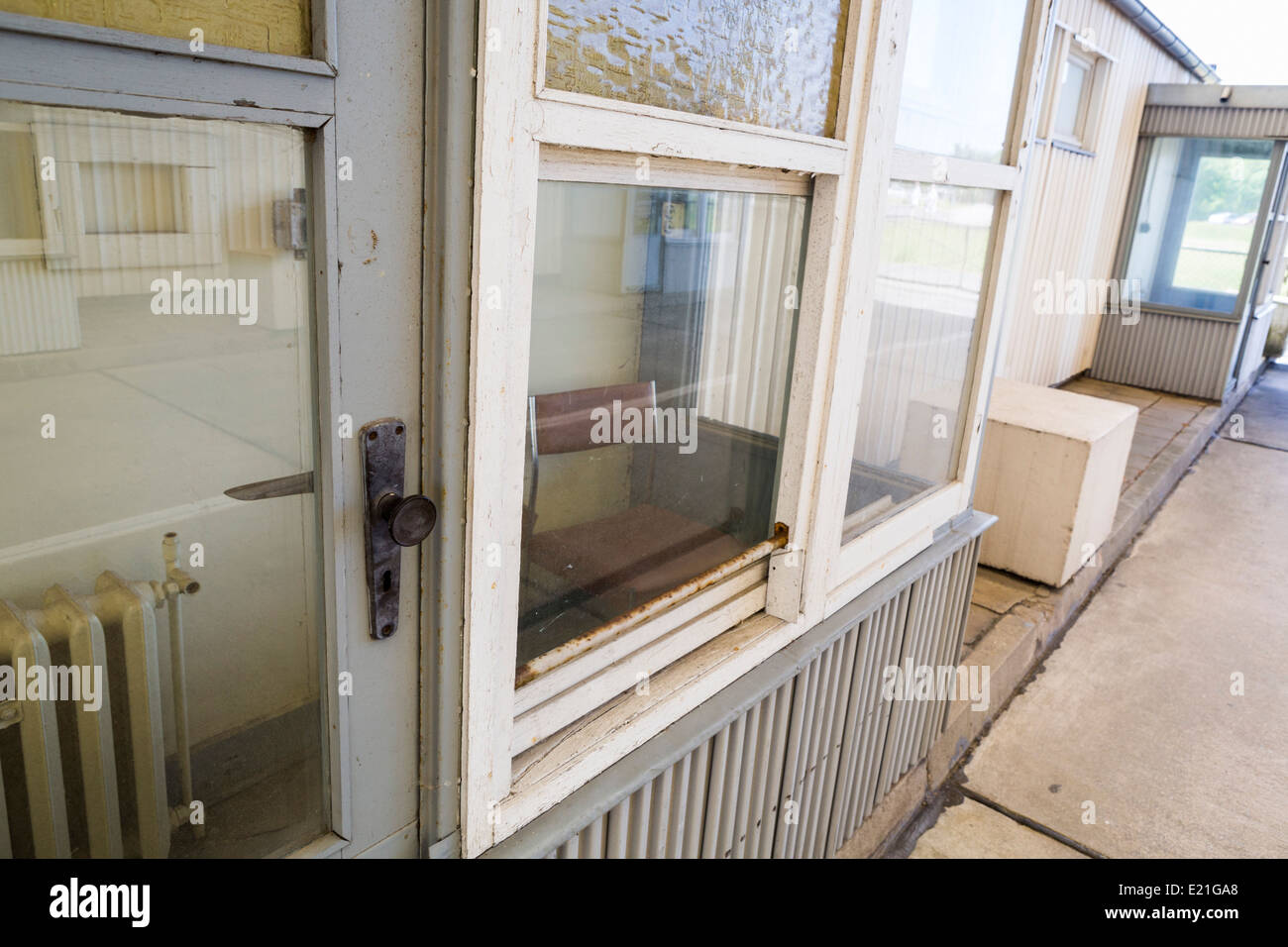 Old border crossing museum between west and east at Helmstedt-Marienborn in Saxony-Anhalt - Stock Image