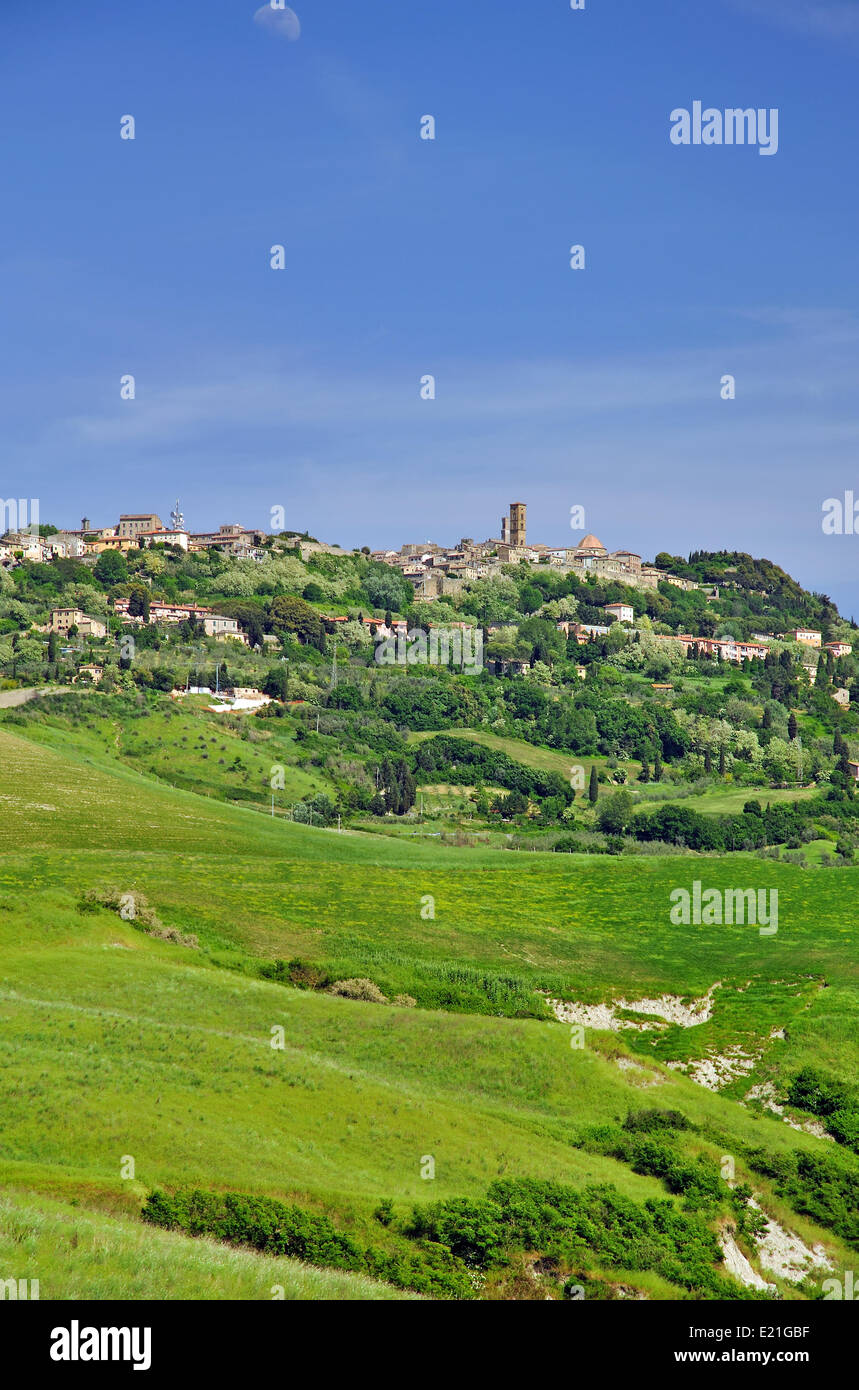 View of Volterra in Tuscany - Stock Image