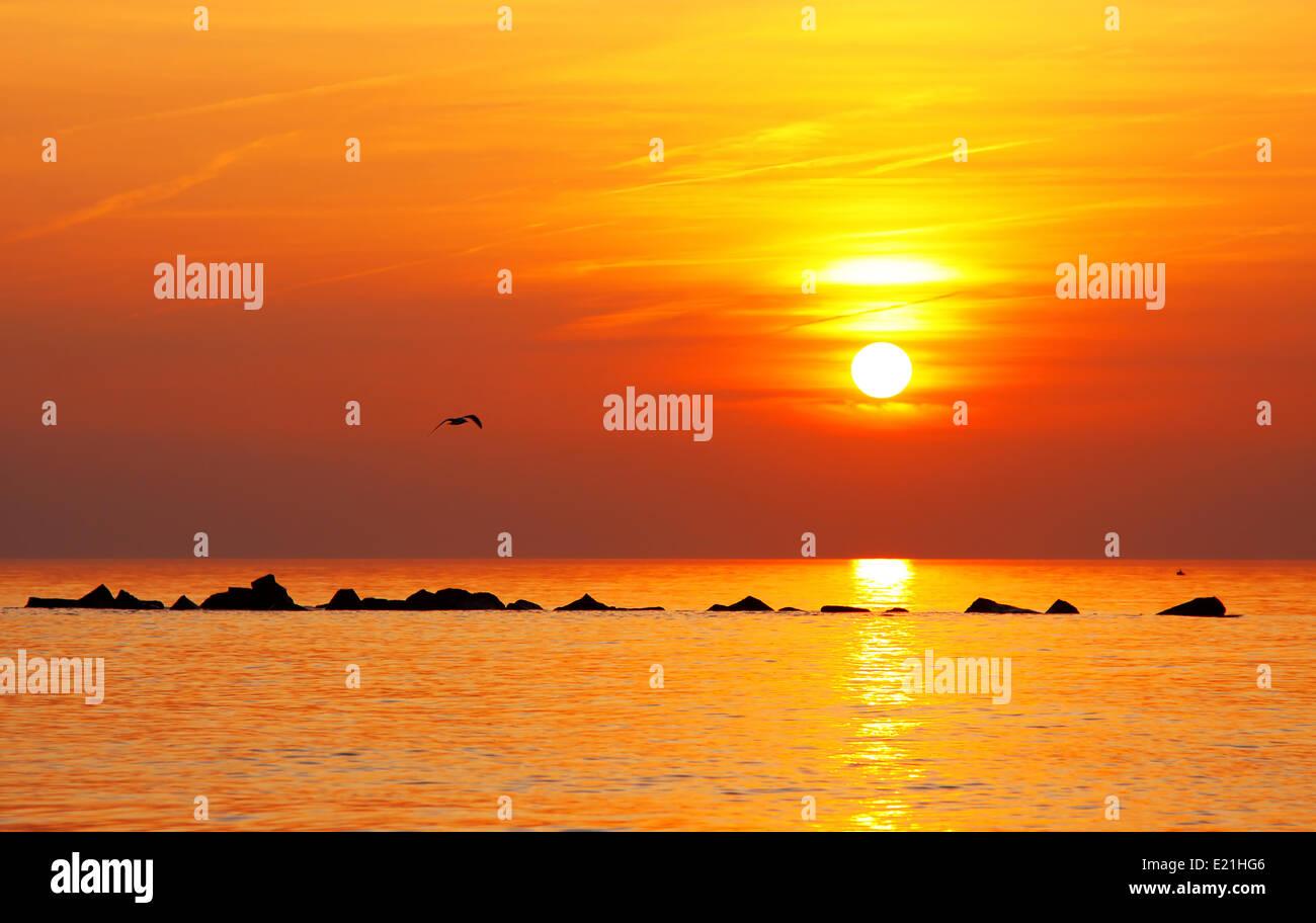 evening at Baltic Sea Stock Photo