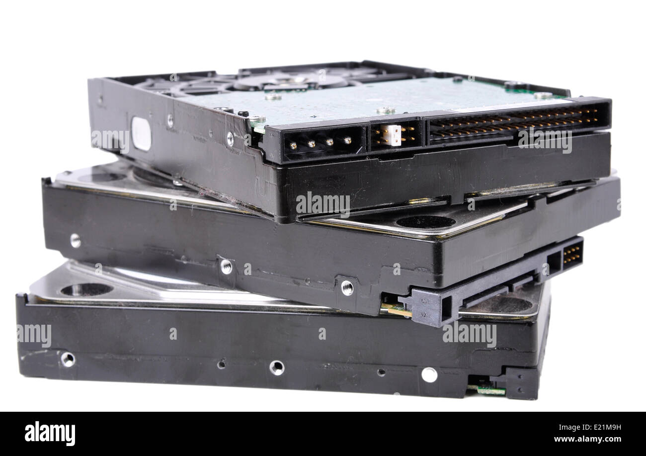 Stack of Computer Hard Drives - Stock Image