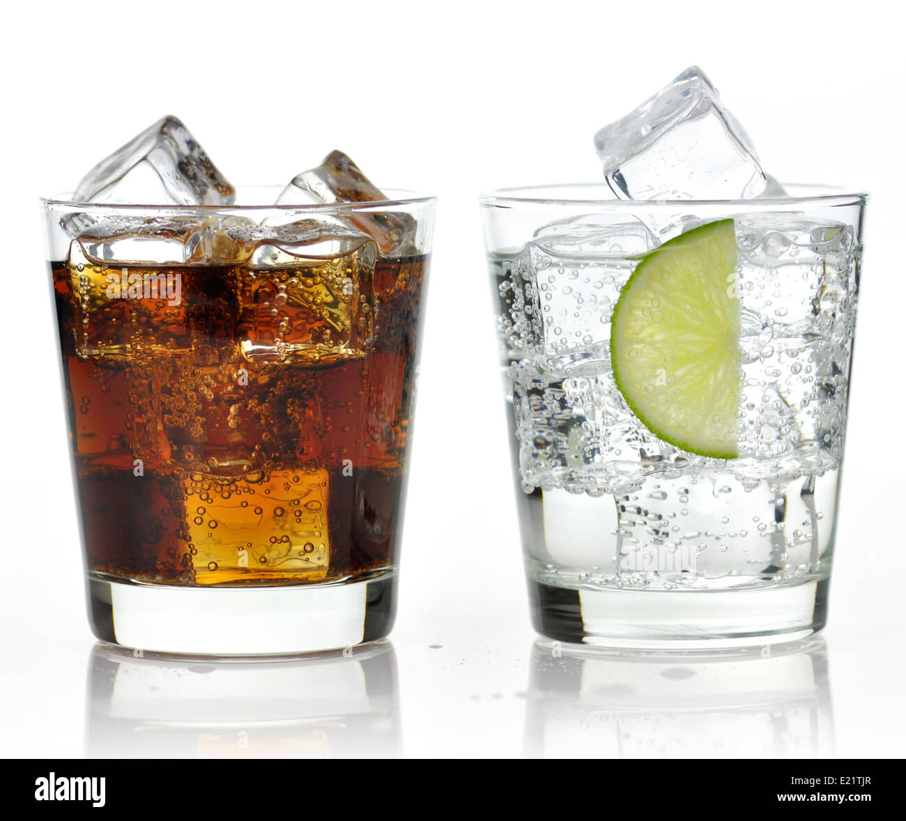 The sweet cooled drinks with ice - Stock Image