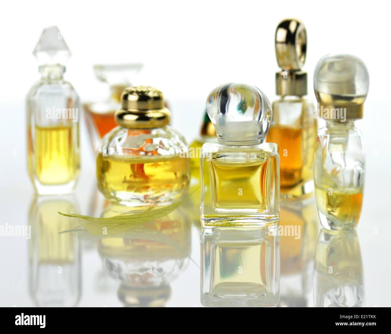 perfume assortment - Stock Image