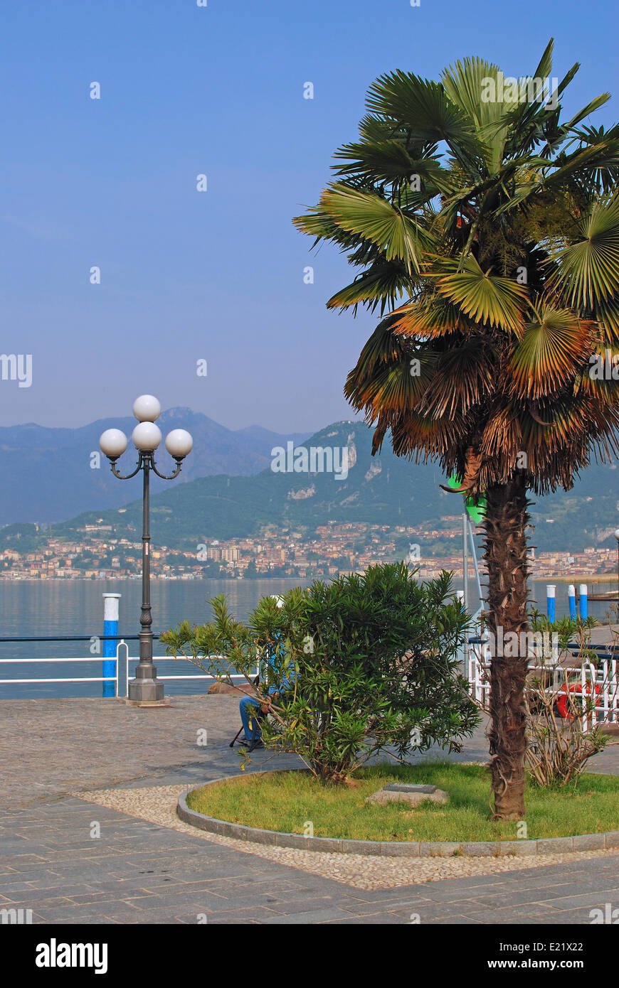 on Lake Iseo in Lombardy Italy - Stock Image