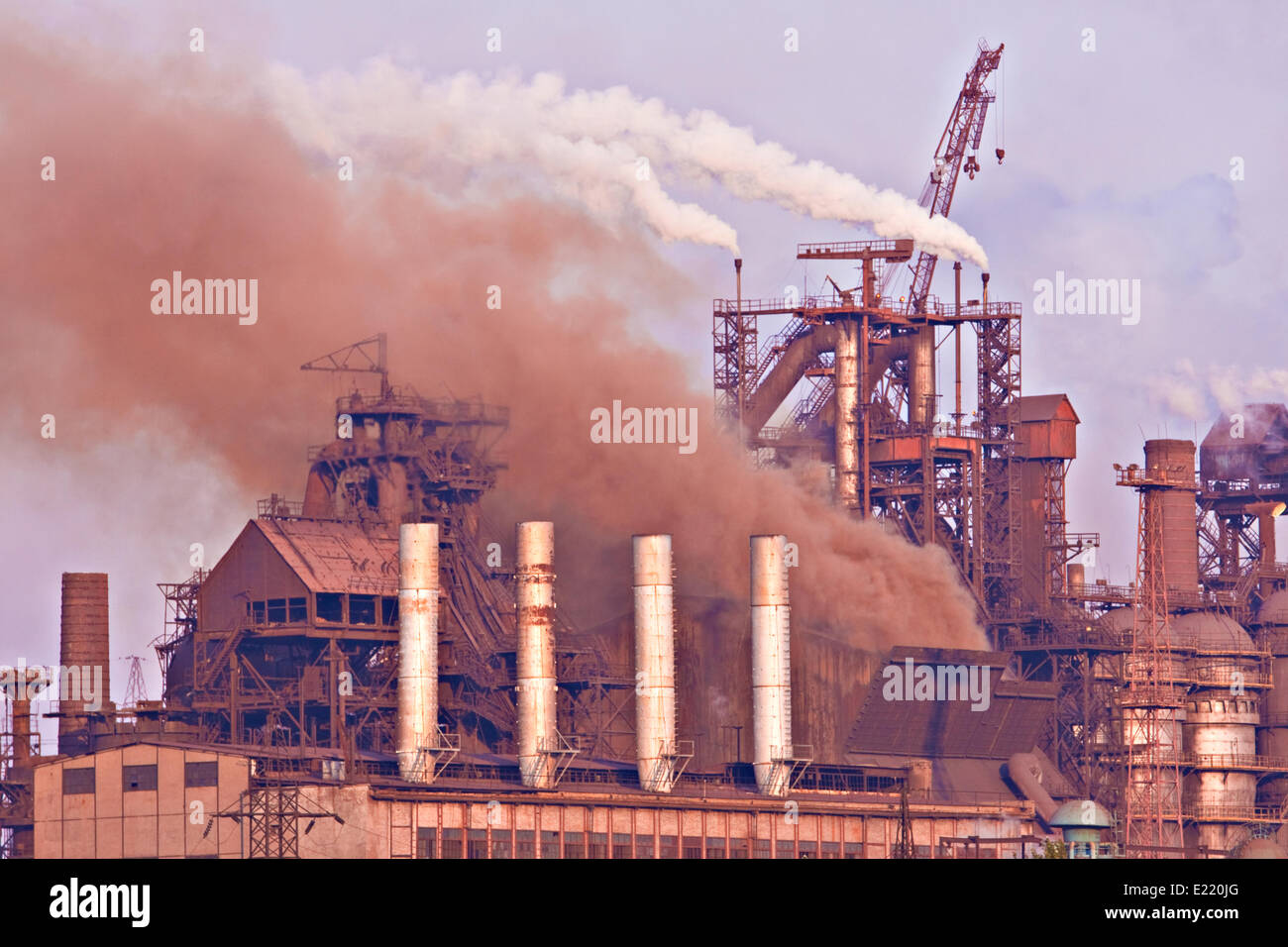 heavy industry production plant - Stock Image