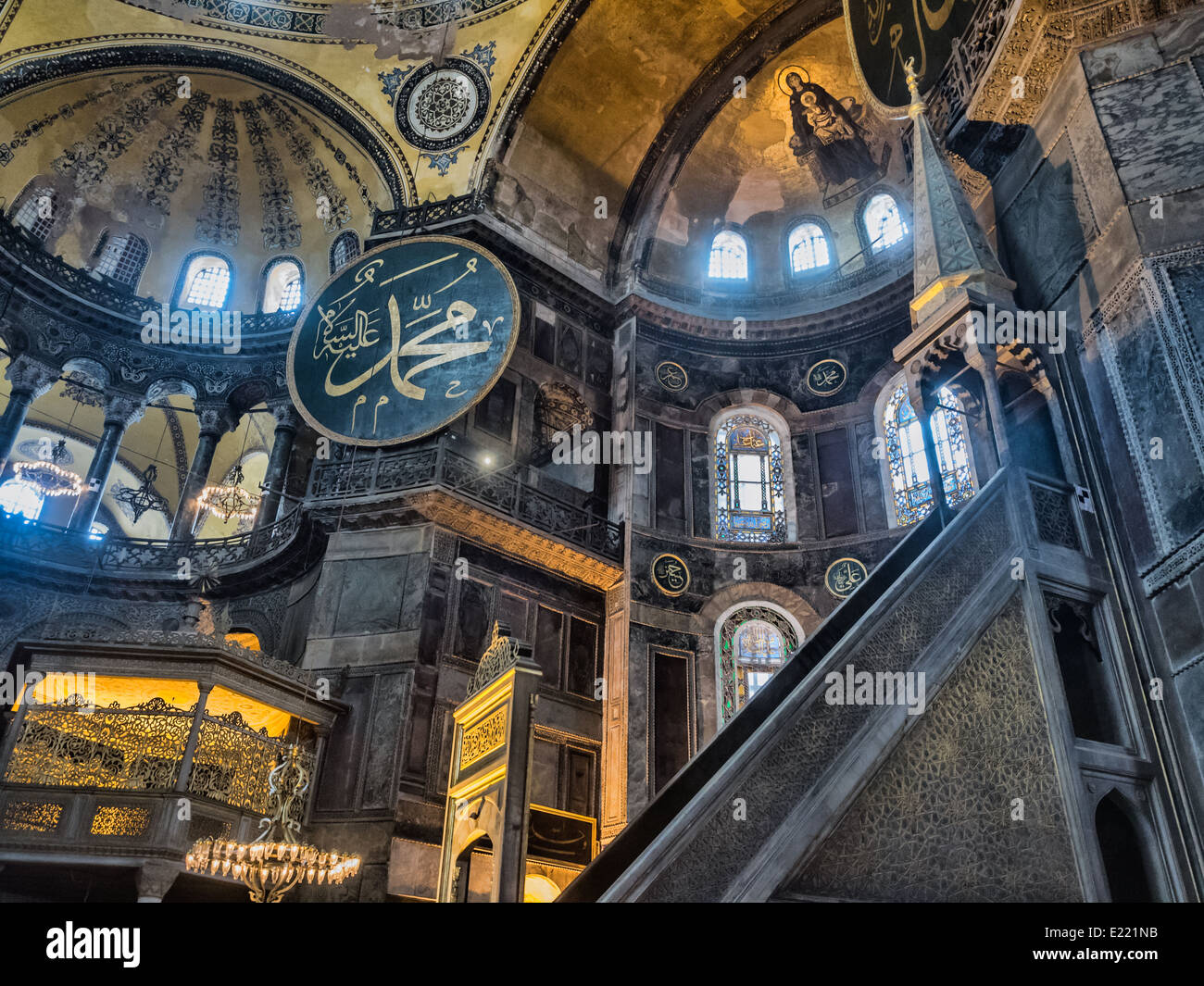 The Hagia Sophia (also Called Hagia Sofia Or Ayasofya) Interior