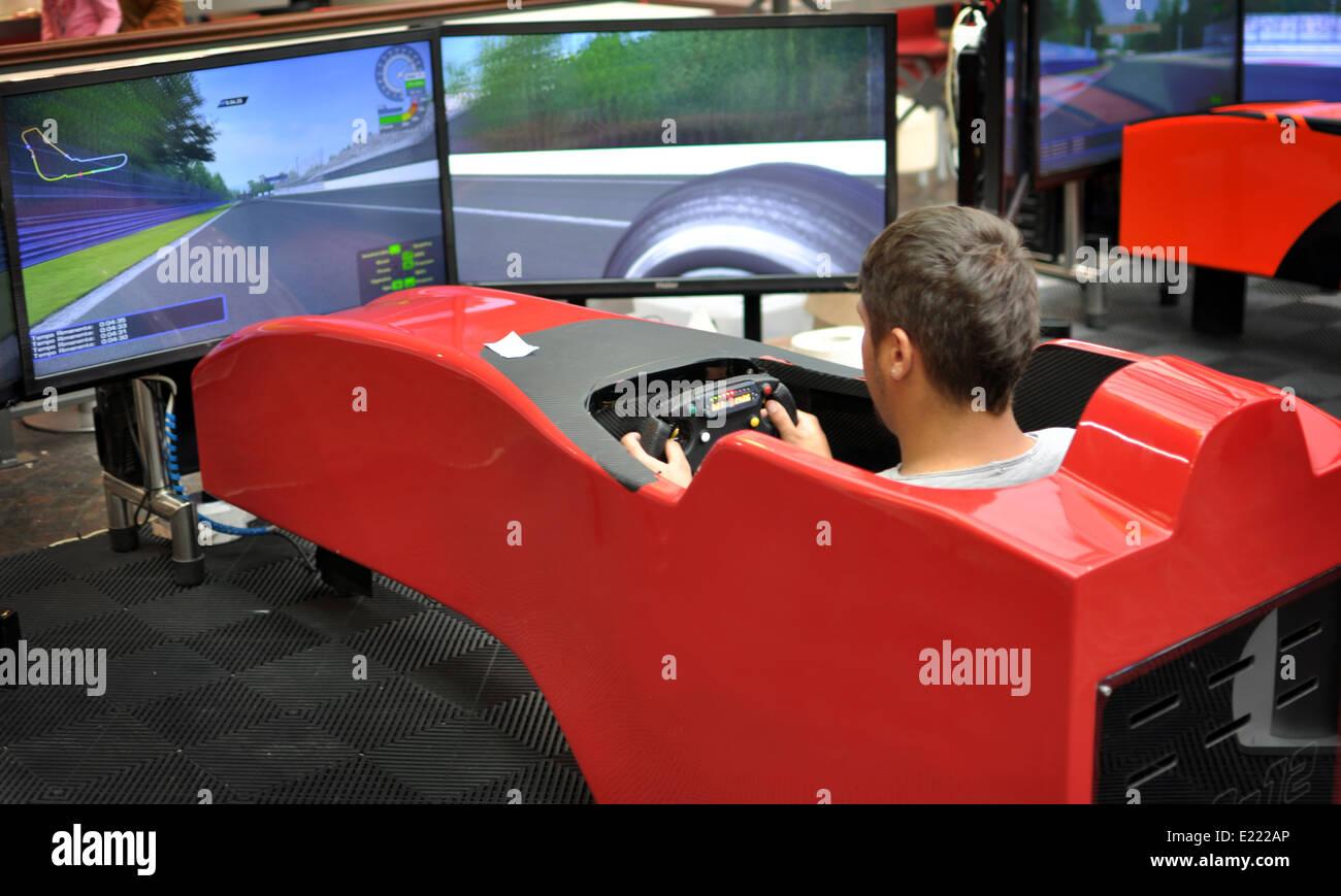 f1 driving simulator stock photo 70116558 alamy. Black Bedroom Furniture Sets. Home Design Ideas