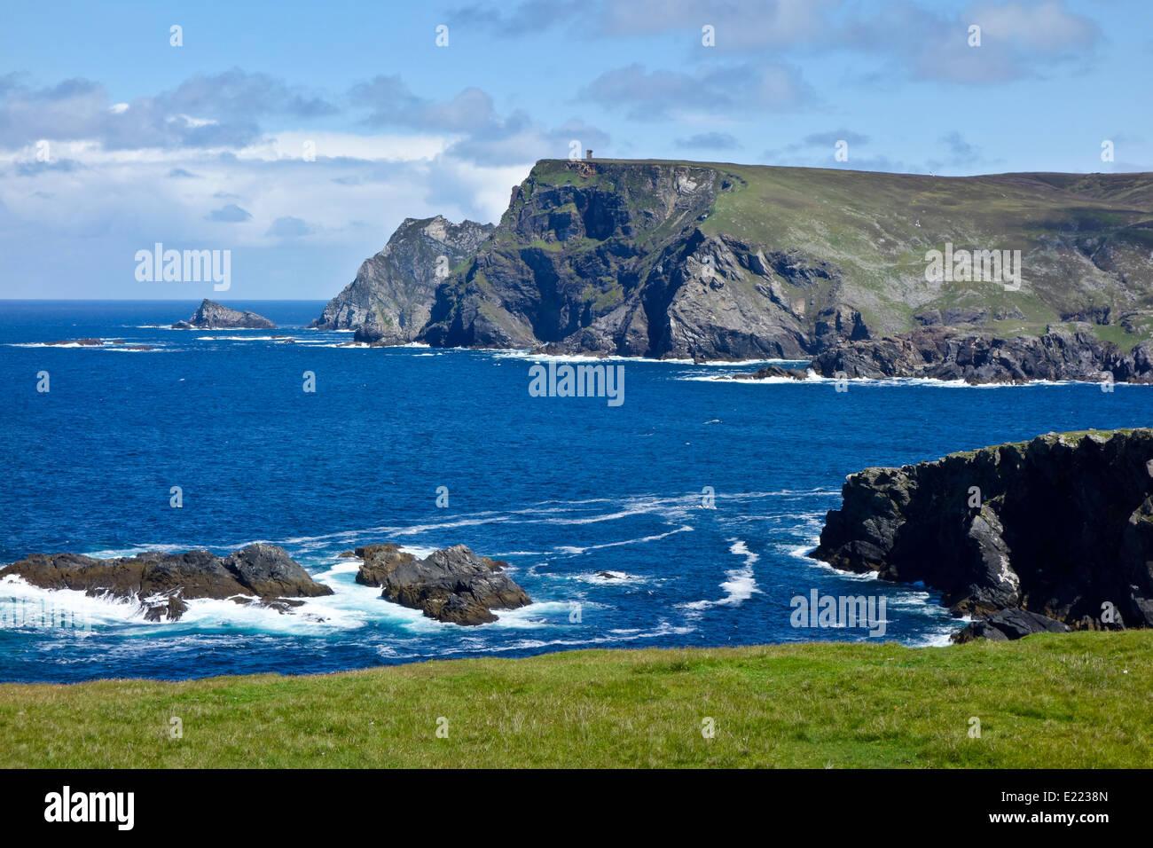 Wild Atlantic way coast road R263 Glen Head County Donegal Ireland - Stock Image