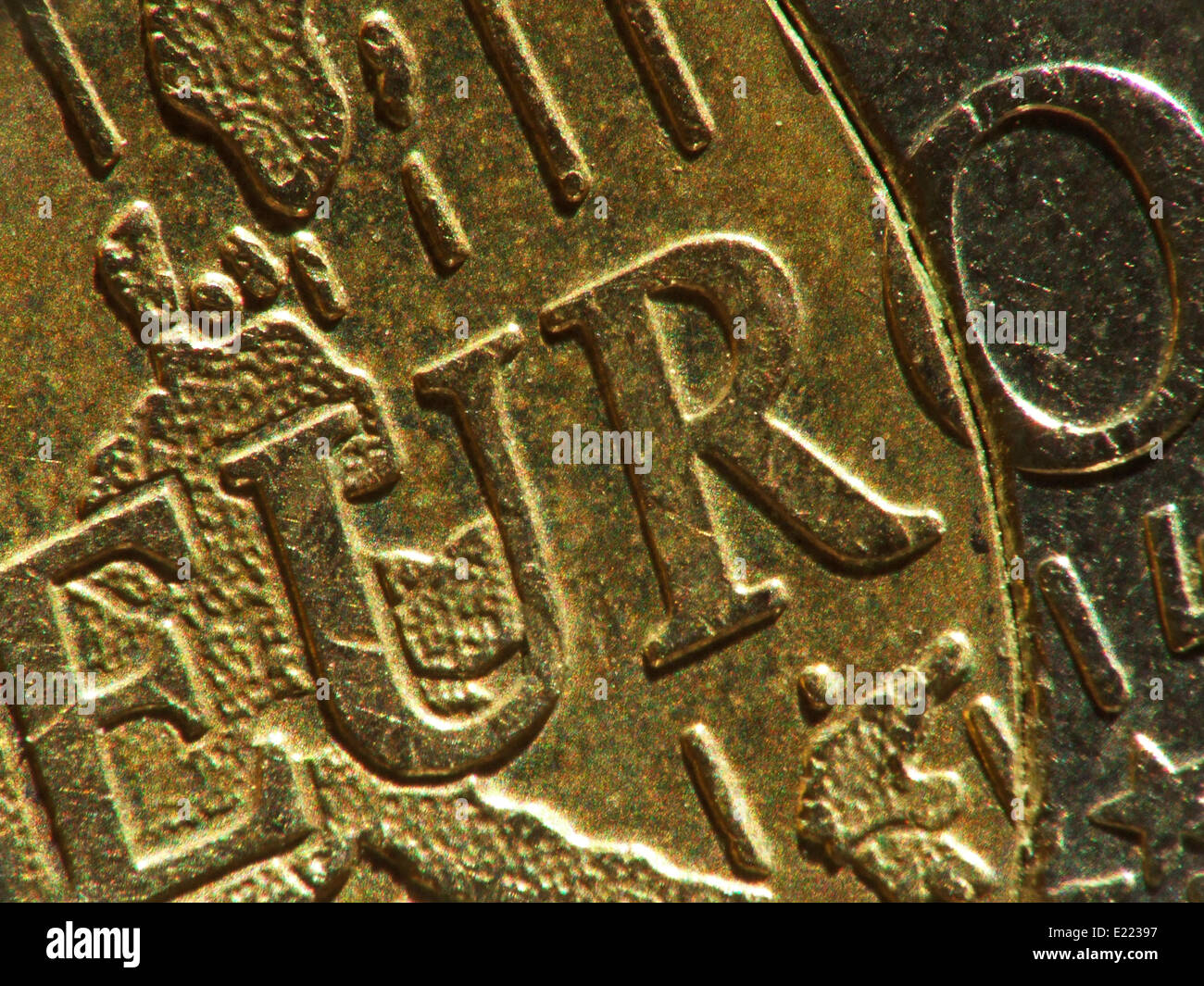 euro coin - Stock Image