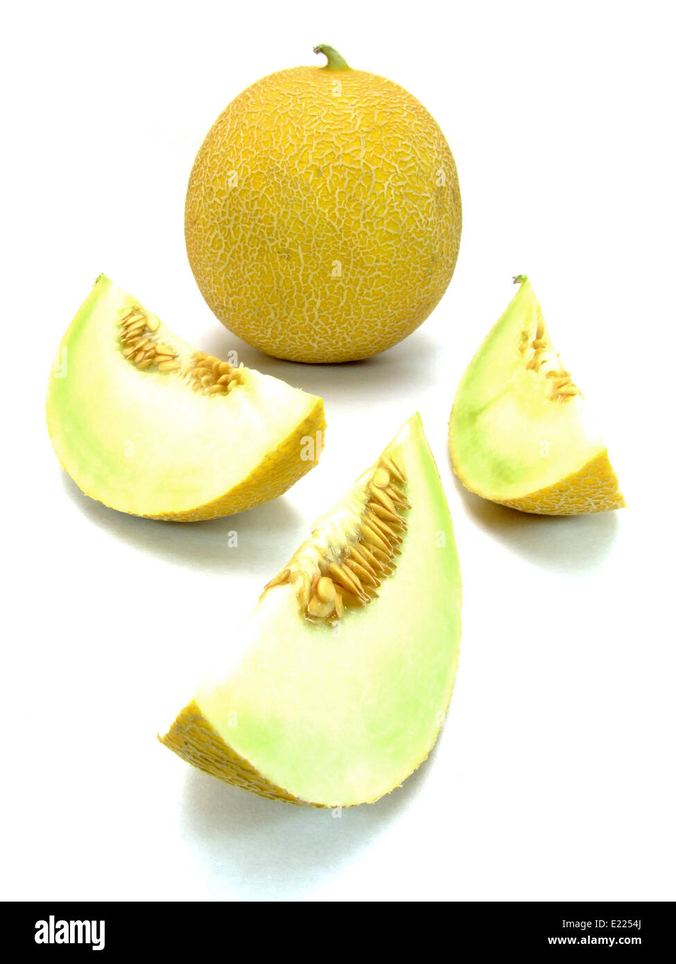 galia melon (cucumis melo) Stock Photo