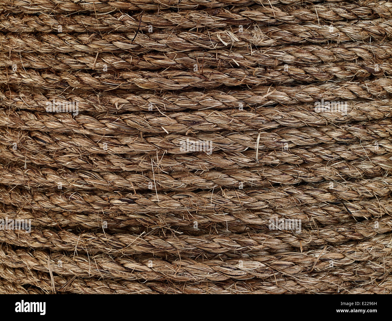 Coiled Rope Detail - Stock Image