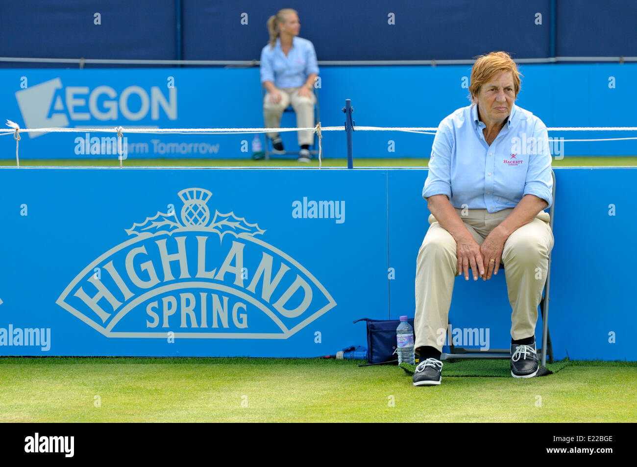 Female Line judges at the Aegon Tennis Championships, Queens Club, London, June10th 2014. - Stock Image