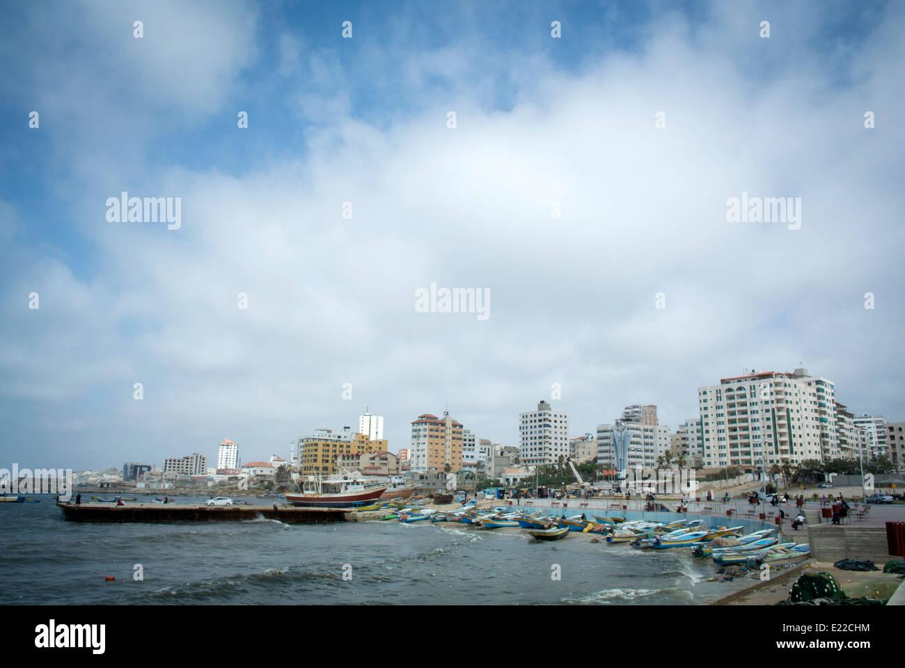 The Port in Gaza City, Gaza Strip, Palestine. - Stock Image