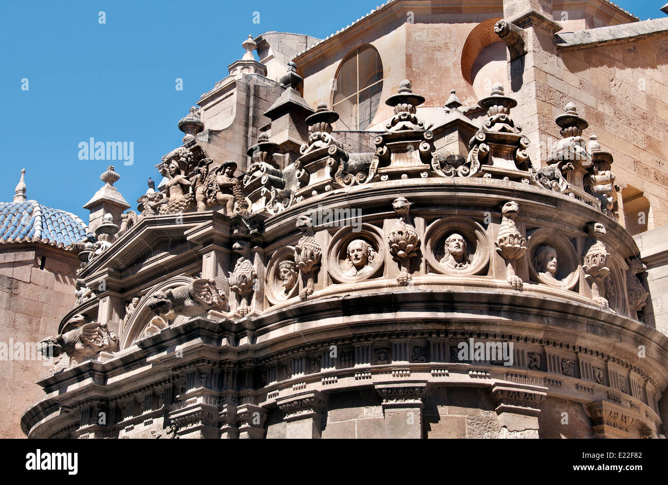 Murcia Cathedral - Plaza del Cardenal Belluga Spain Spanish Andalusia Stock Photo