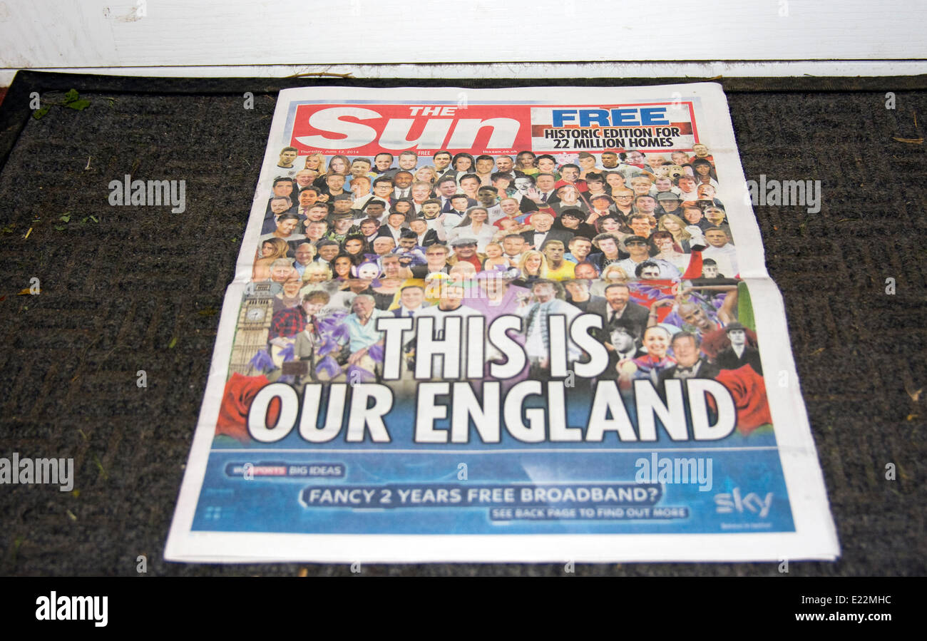 Controversial Free Copy of the Sun Newspaper - Stock Image