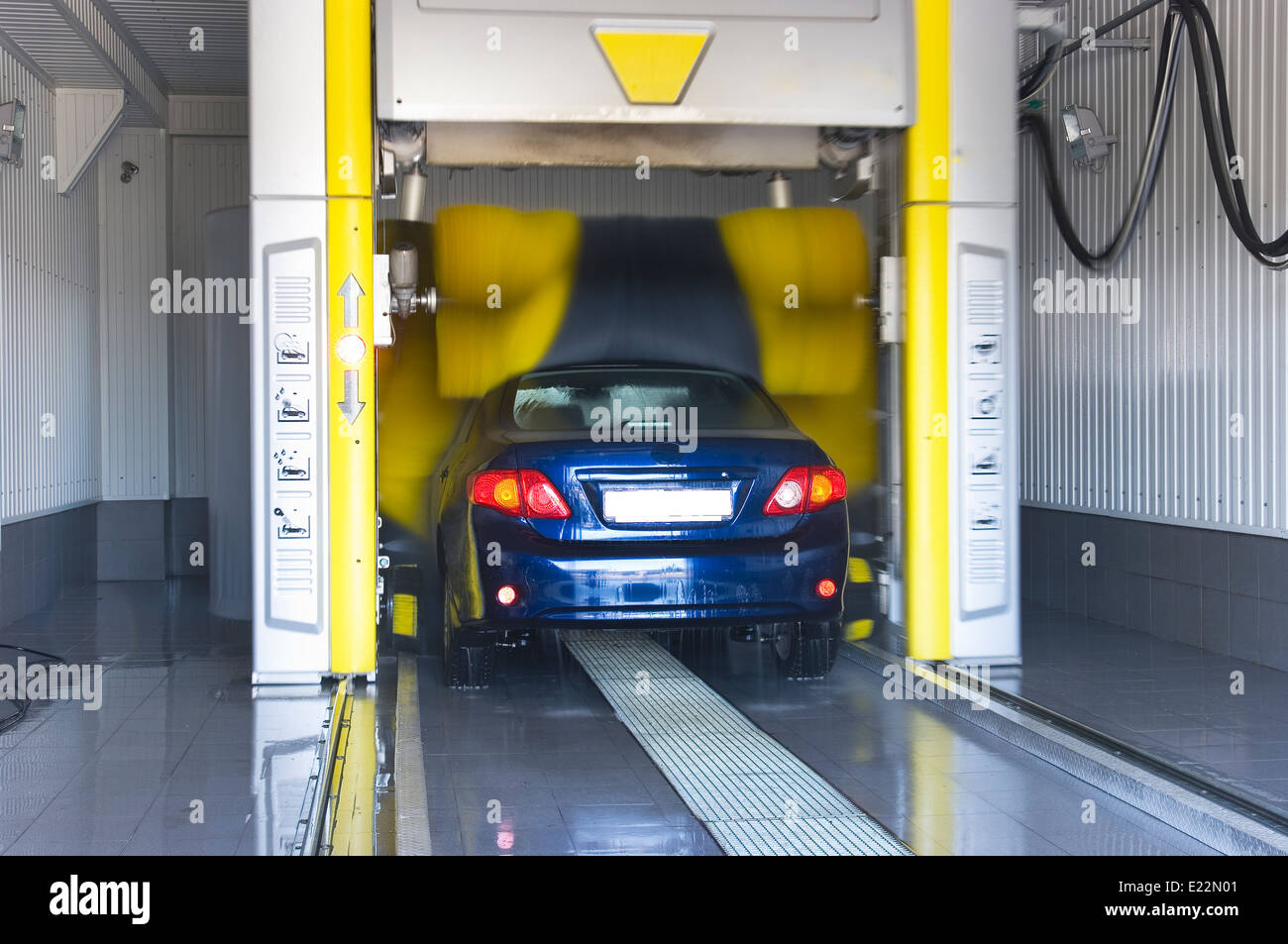 Automatic car wash - very fast and convenient service - Stock Image