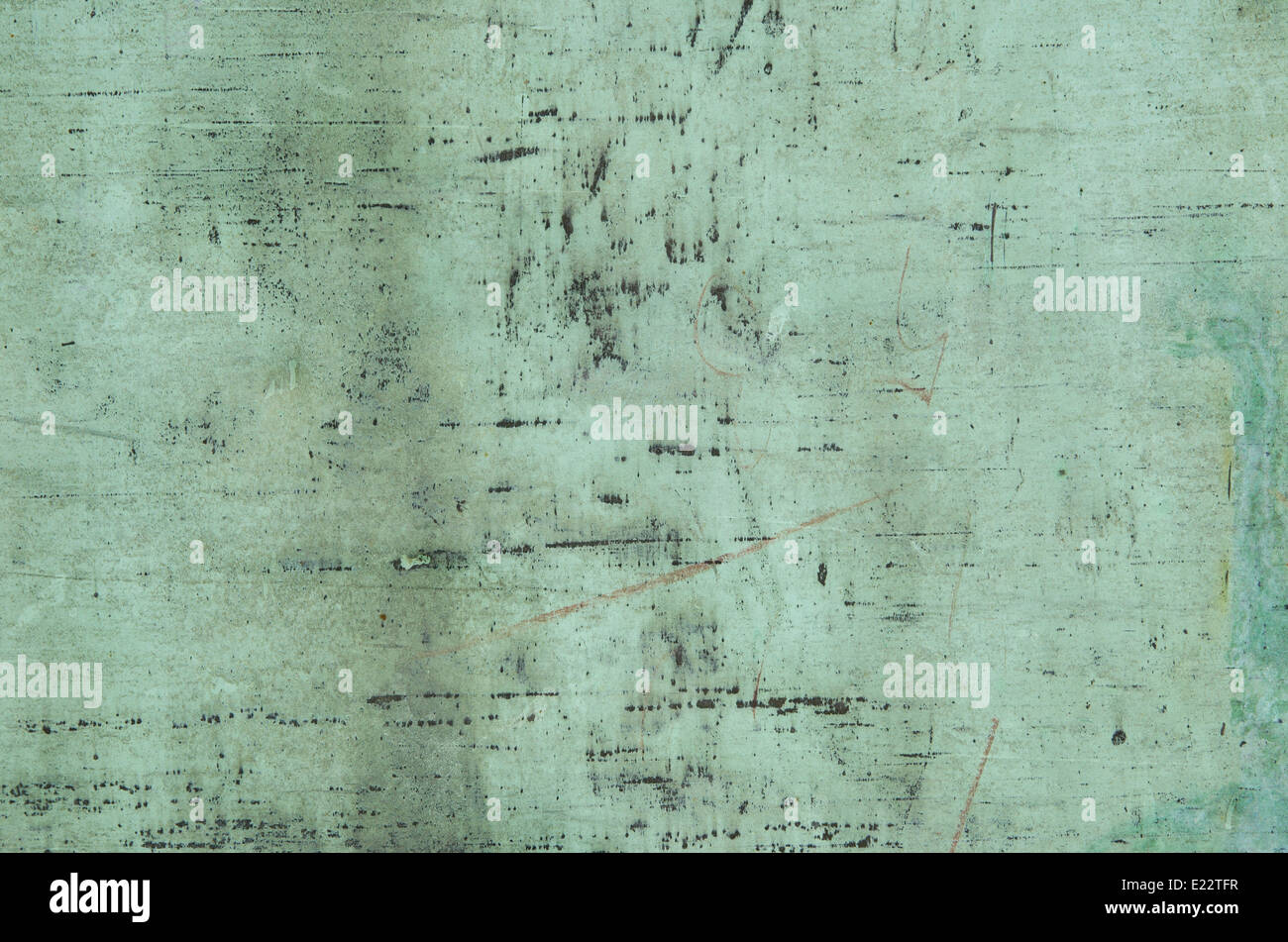 Background of weathered and oxidised copper surface - Stock Image