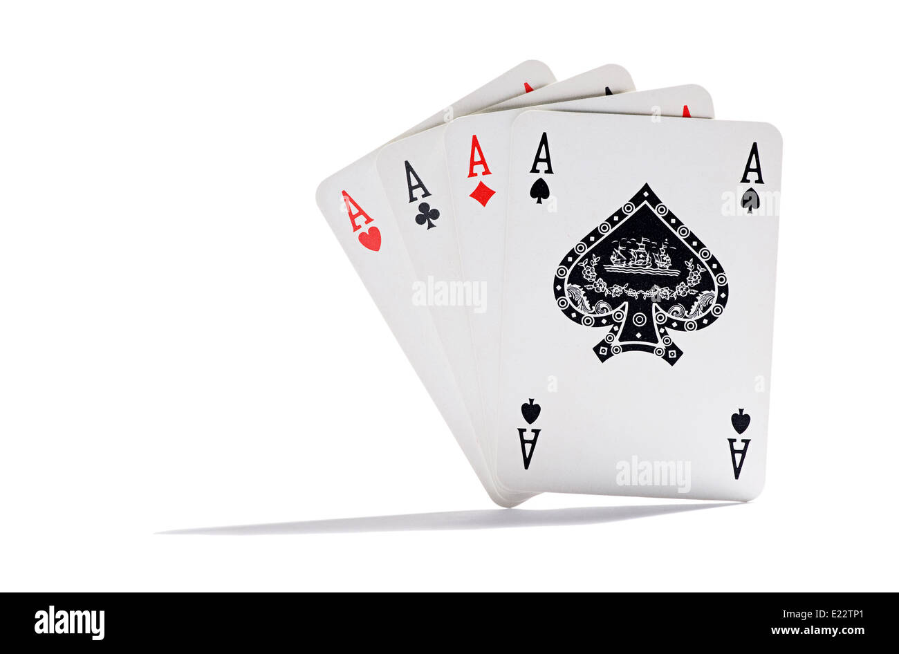 Four aces - Stock Image