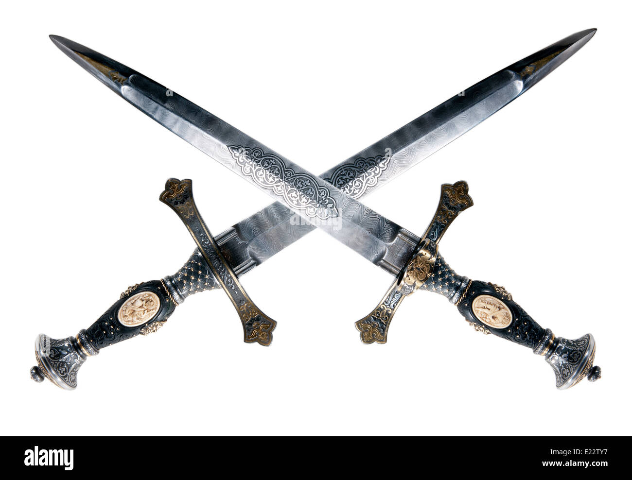 Medieval dagger. It was often used by pirates - Stock Image