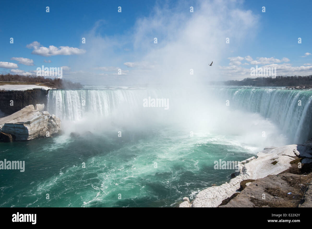 niagara falls canada on april 27 2014 due to the cold winter