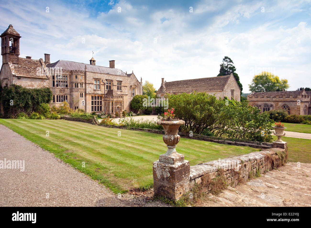 The west front at Brympton d'Evercy House nr Yeovil, Somerset, England, UK Stock Photo