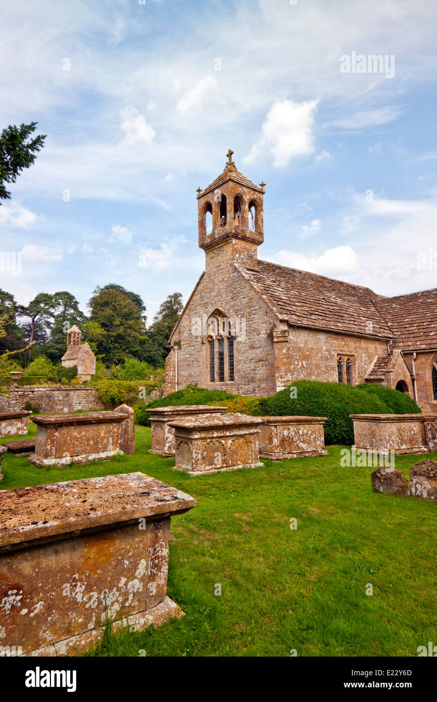 The chapel and graveyard at Brympton d'Evercy House nr Yeovil, Somerset, England, UK Stock Photo