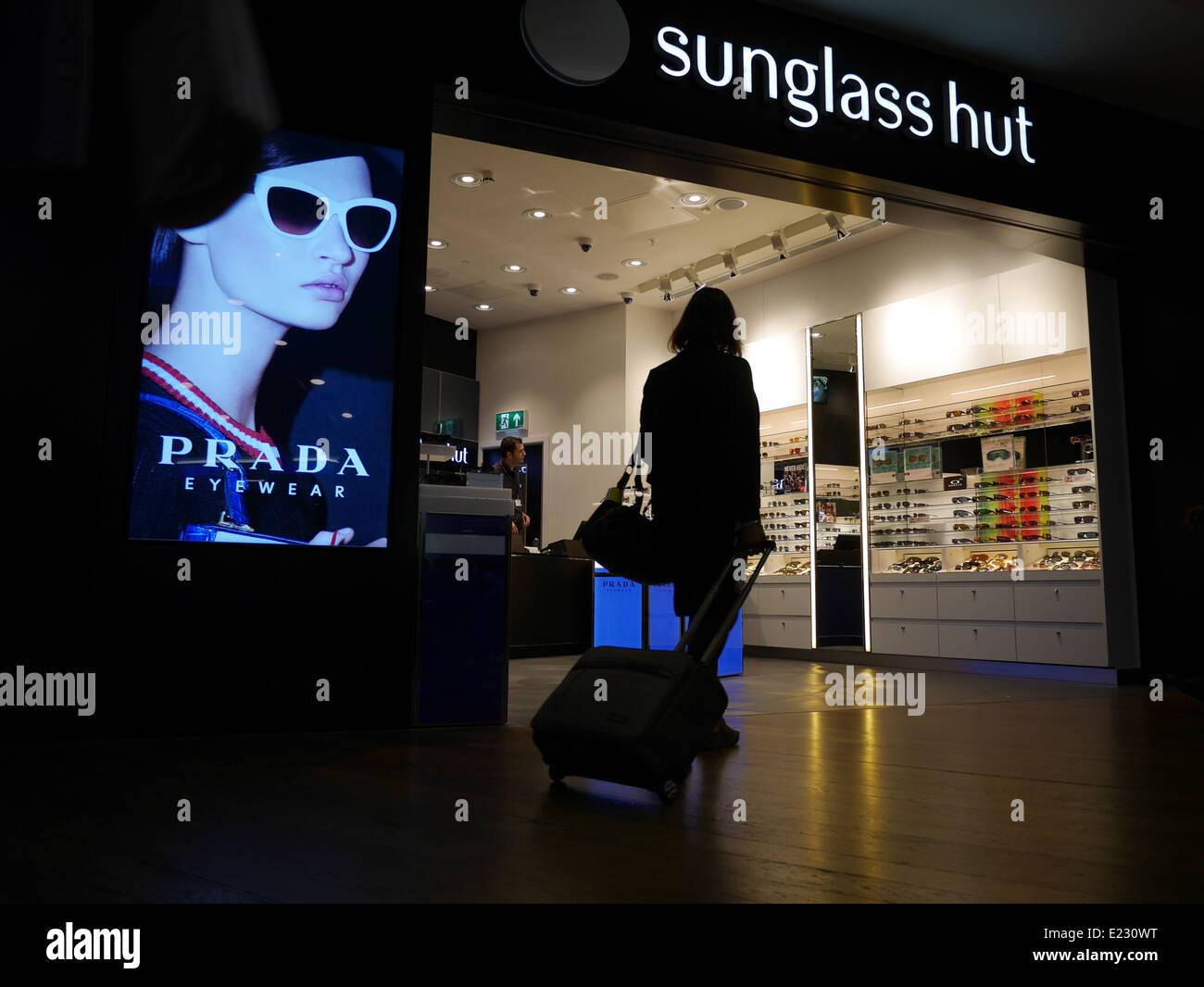 Sunglass hut London - Stock Image