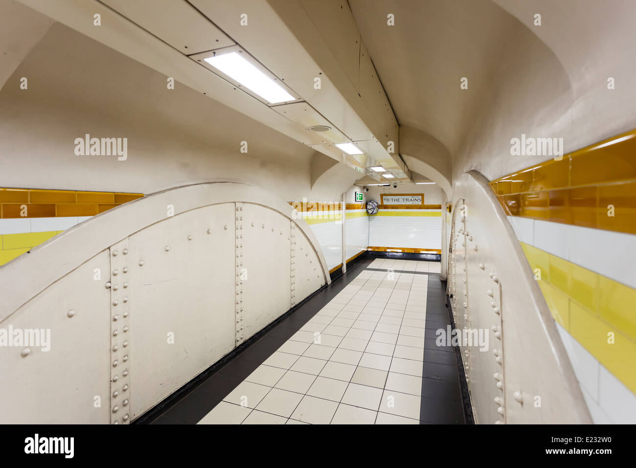 Subway Tunnel in London, UK - Stock Image