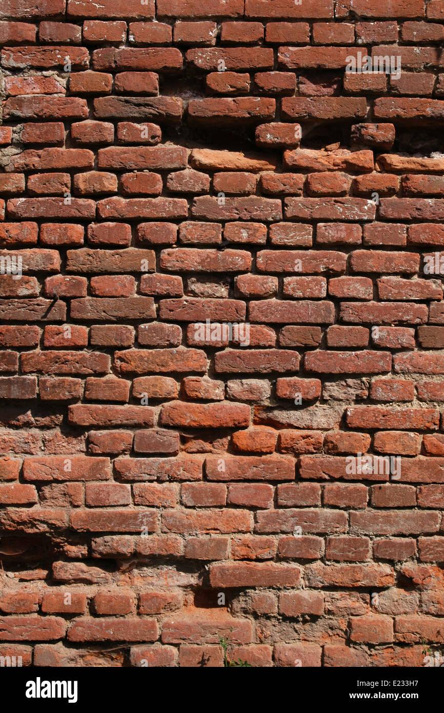 Brickwork of the Austro-Hungarian fortress Theresienstadt in Terezin, Czech Republic. - Stock Image