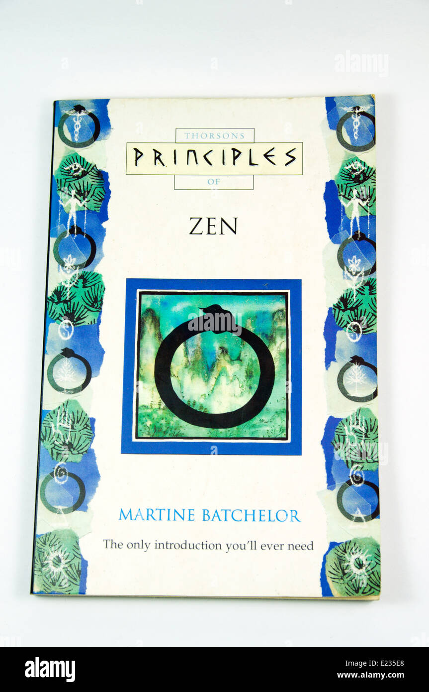 Principals of Zen book by Martine Batchelor - Stock Image
