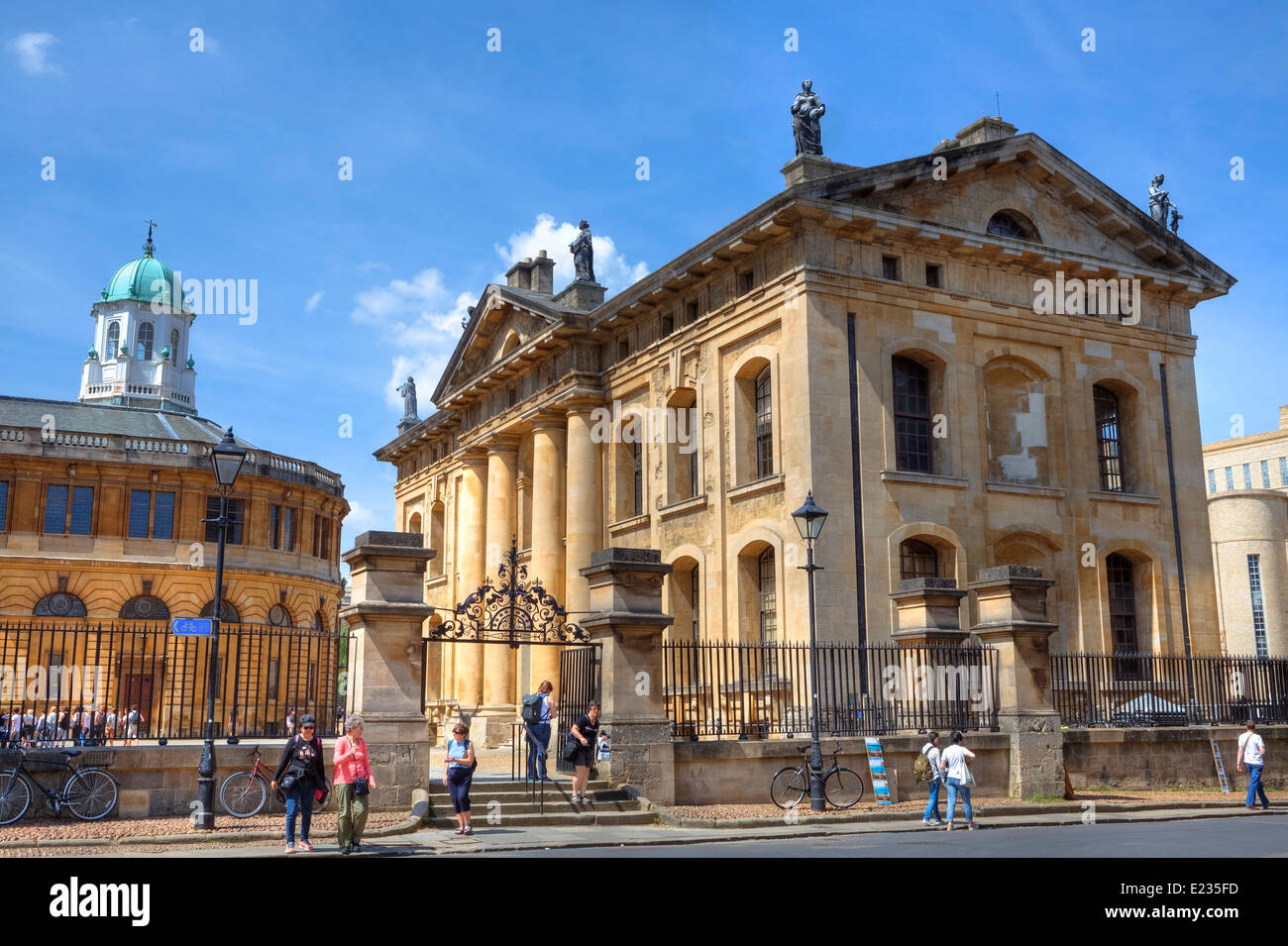 Bodleian library, Oxford, Oxfordshire, England, United Kingdom - Stock Image