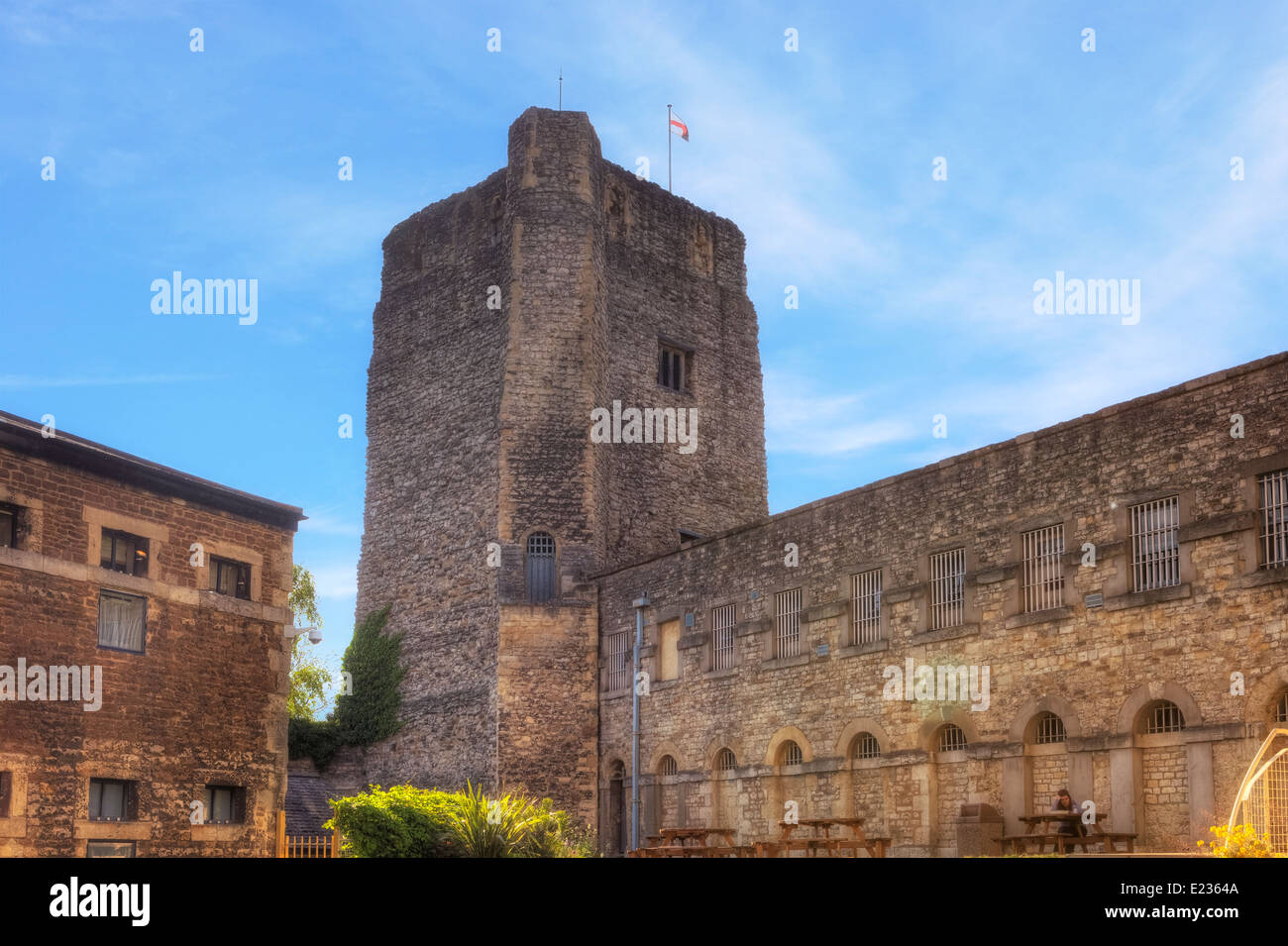 Oxford Castle, Oxford, Oxfordshire, England, United Kingdom - Stock Image