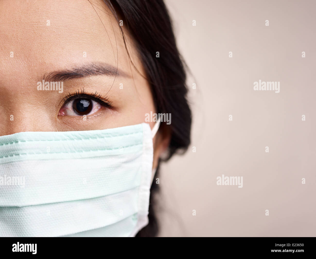 face with mask - Stock Image