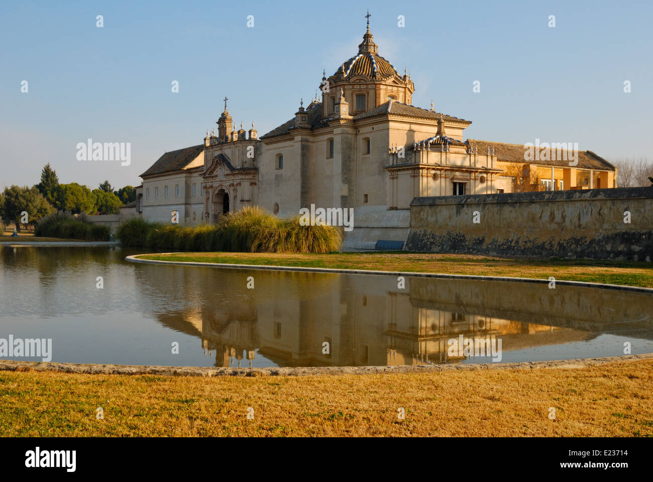 La Cartuja, an old monastery located Seville, Spain. In 1997, it became the site of a museum of contemporary and - Stock Image