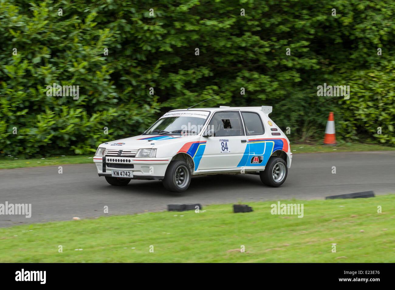 Cultra, Holywood, Northern Ireland. 14 June 2014. Cultra Hillclimb. 1985 Peugeot 205 RWD, Neil Dugan. Credit:  J - Stock Image