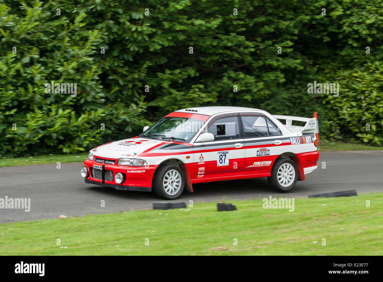Cultra, Holywood, Northern Ireland. 14 June 2014. Cultra Hillclimb. 1992 Mitsubishi Evo 1, Scott Leitch. Credit: - Stock Image