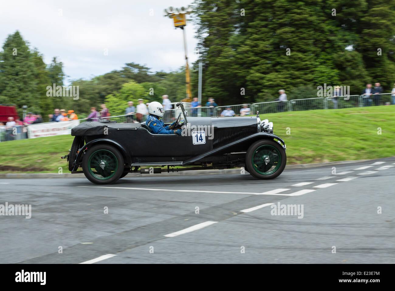 Cultra, Holywood, Northern Ireland. 14 June 2014. Cultra Hillclimb. 1928 Lagonda HC Sports, Roger Corry. Credit: - Stock Image