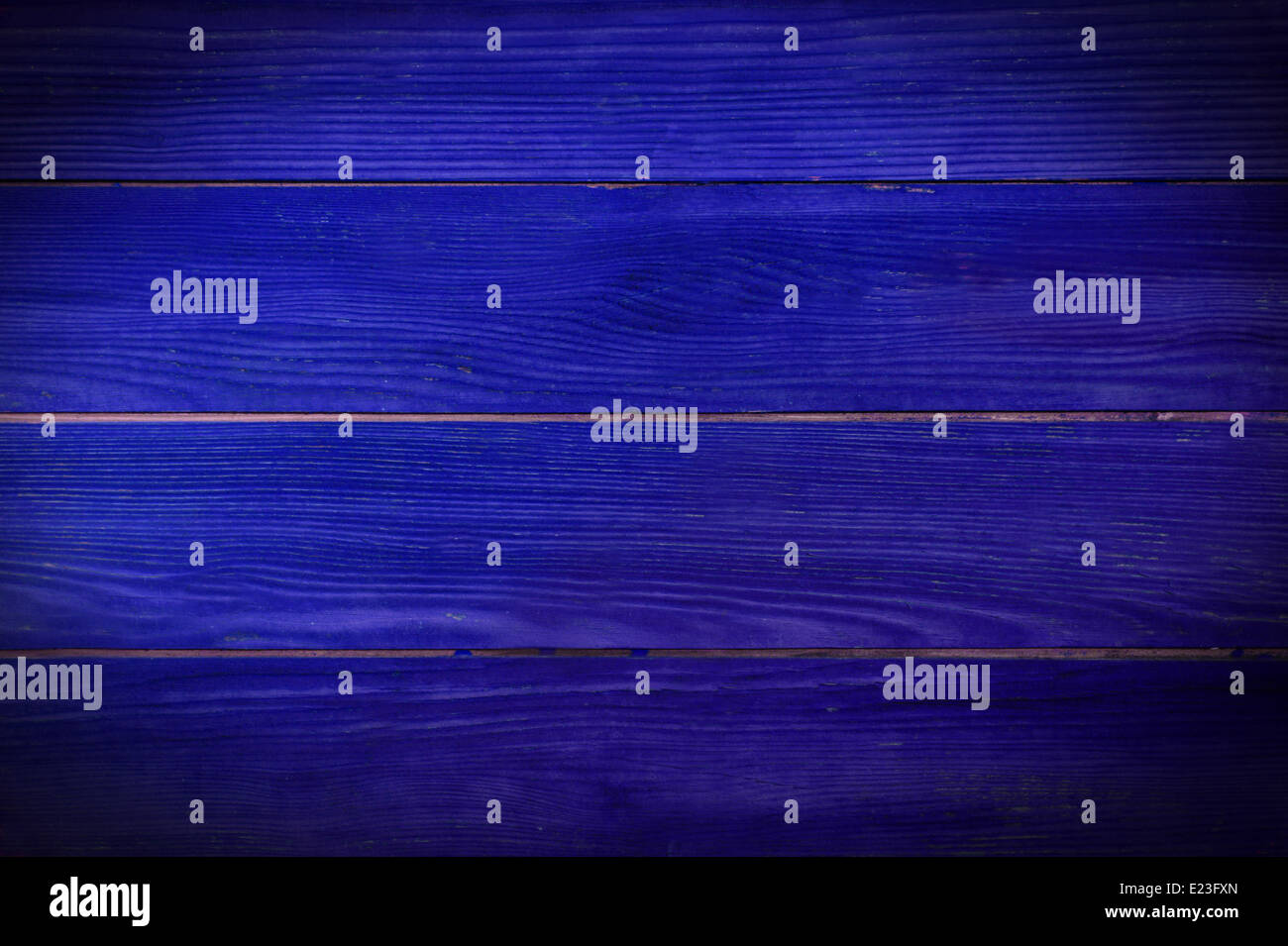 blue painted planks - Stock Image