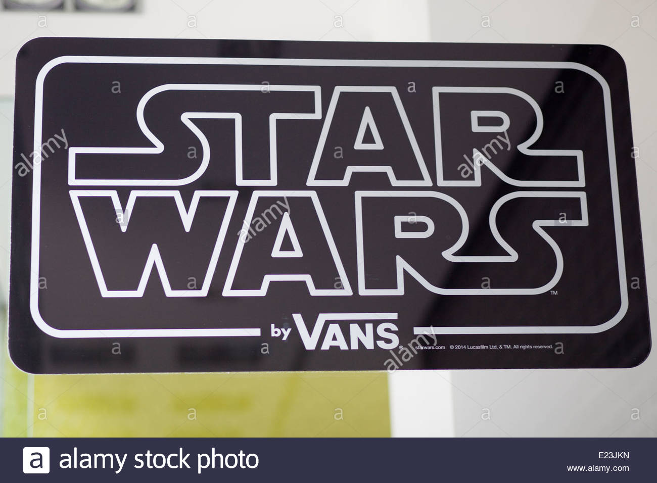 Star Wars by Vans Sign in a shop window - Stock Image