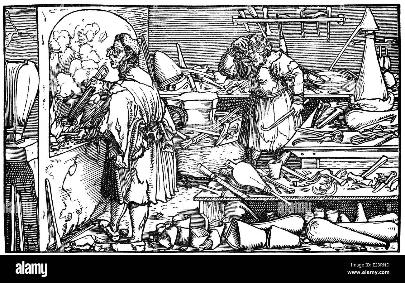 Alchemy laboratory, - Stock Image