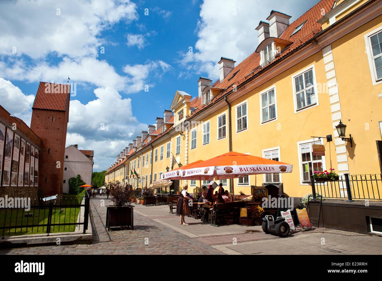 The beautiful architecture of Tornu Iela in Riga, Latvia. - Stock Image