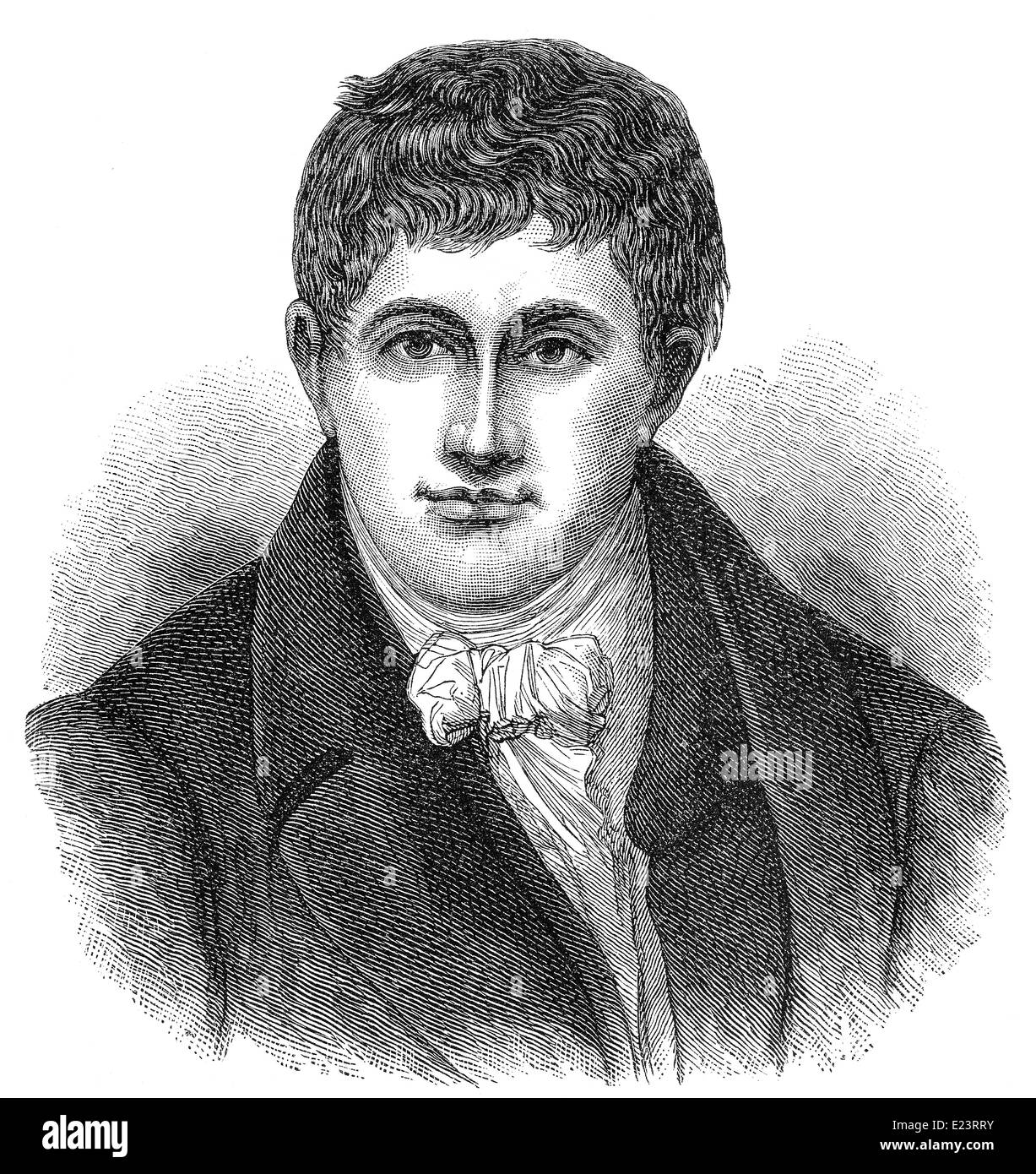 Sir Humphry Davy, 1778 - 1829, a Cornish chemist and inventor - Stock Image