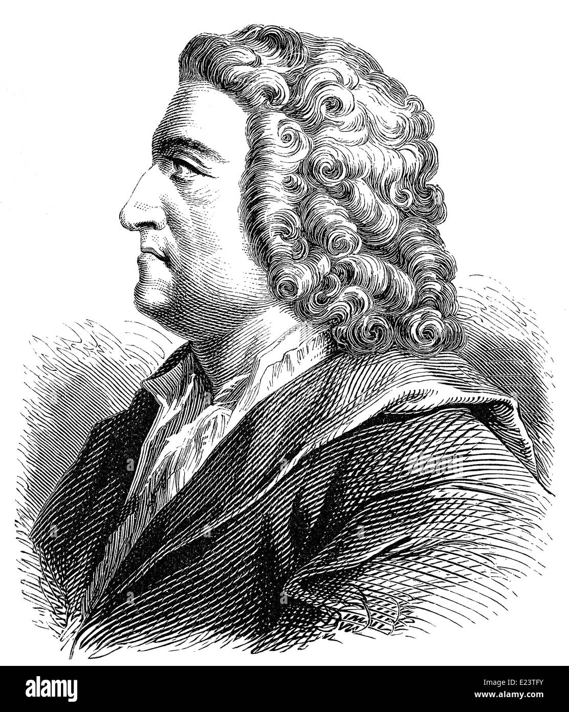 Johann Friedrich Böttger or Böttcher, Böttiger, 1682 - 1719, a German alchemist, - Stock Image