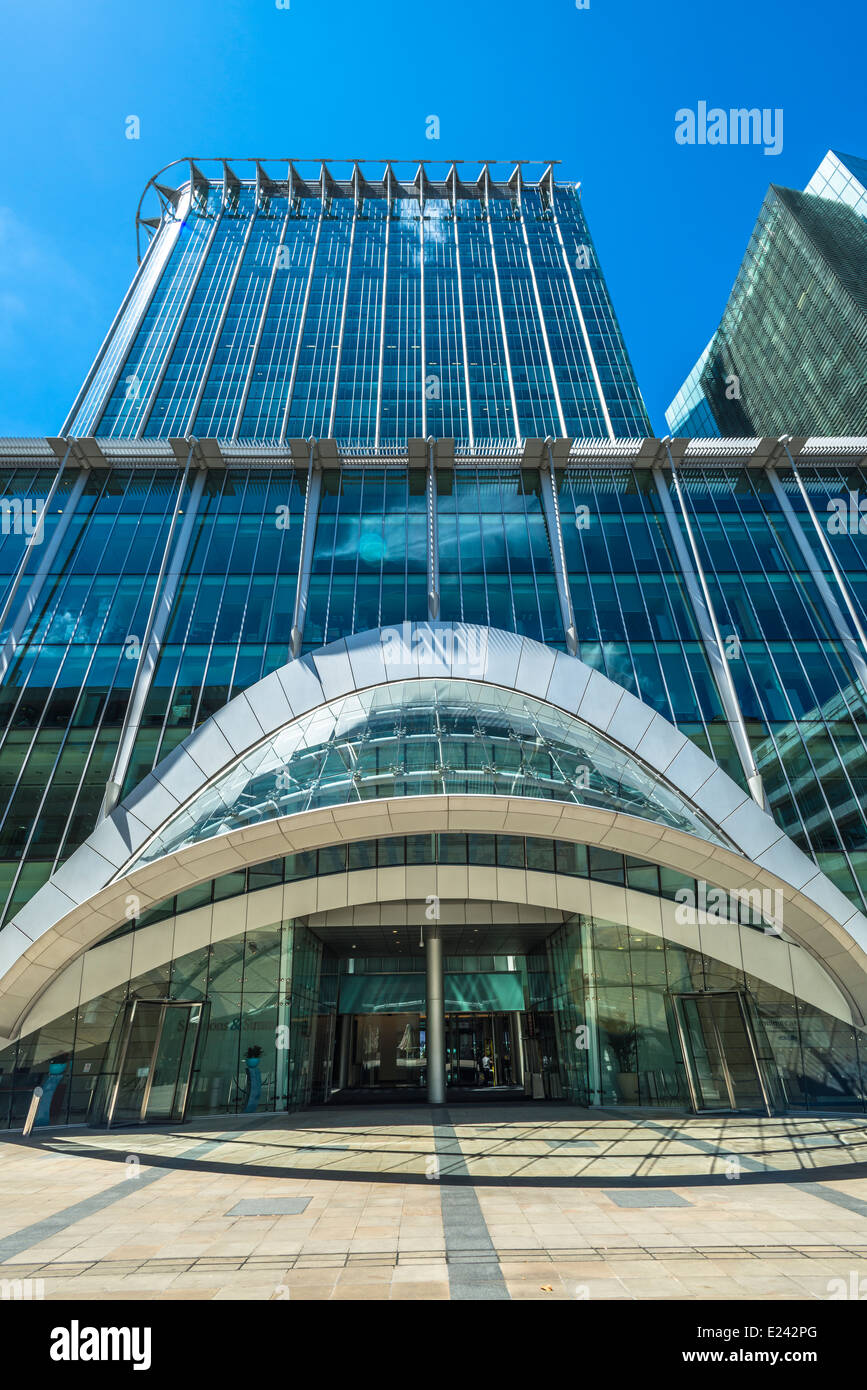 View of the CityPoint skyscraper located on Ropemaker Street in the City of London, UK - Stock Image